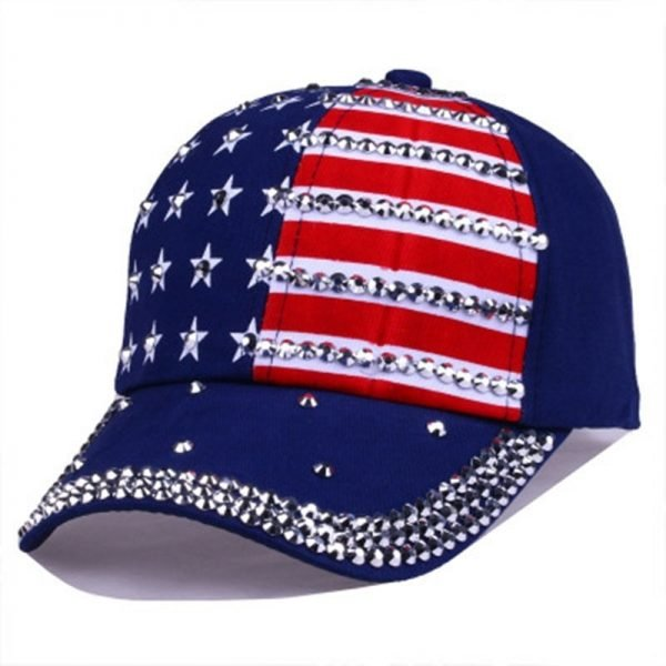 Genbitty High Quality Spring And Summer Star Pattern Baseball Cap Rivet Printed Women Men American Flag Snapback Hip Hop Hats 10