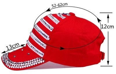 Genbitty High Quality Spring And Summer Star Pattern Baseball Cap Rivet Printed Women Men American Flag Snapback Hip Hop Hats 12
