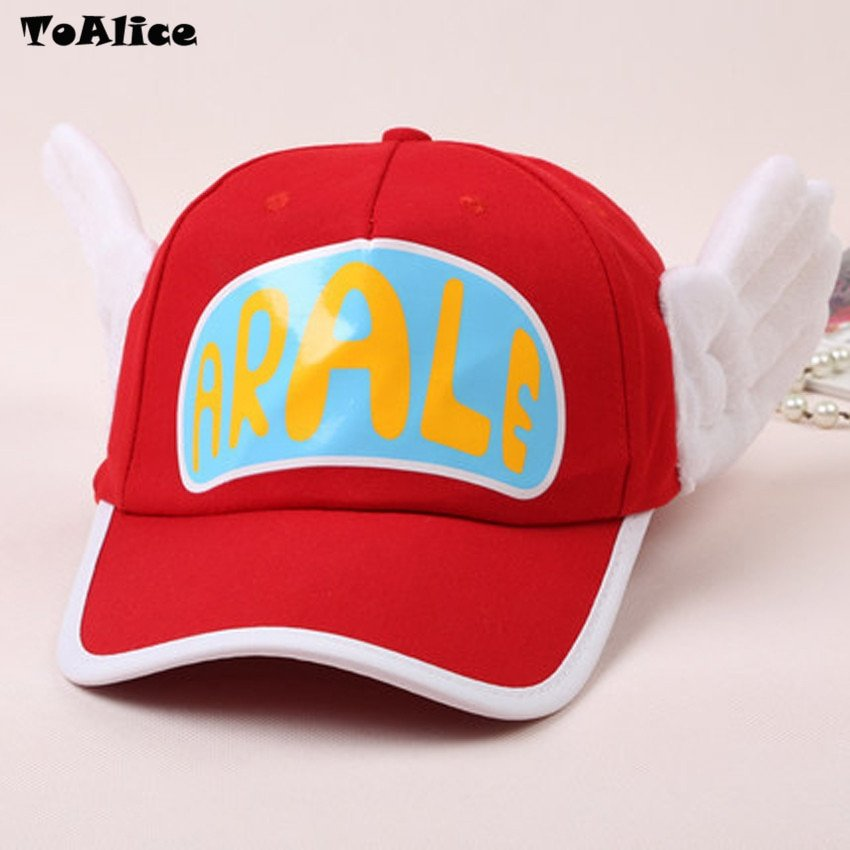 Japanese Anime Cute Dr.Slump Arale Angel Wings Anime Cosplay Hats Summer Cap Baseball Cap for Adult Size 7