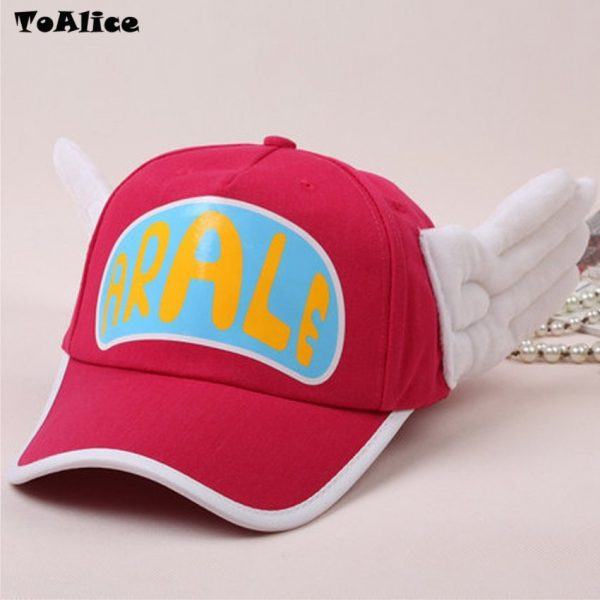 Japanese Anime Cute Dr.Slump Arale Angel Wings Anime Cosplay Hats Summer Cap Baseball Cap for Adult Size 10