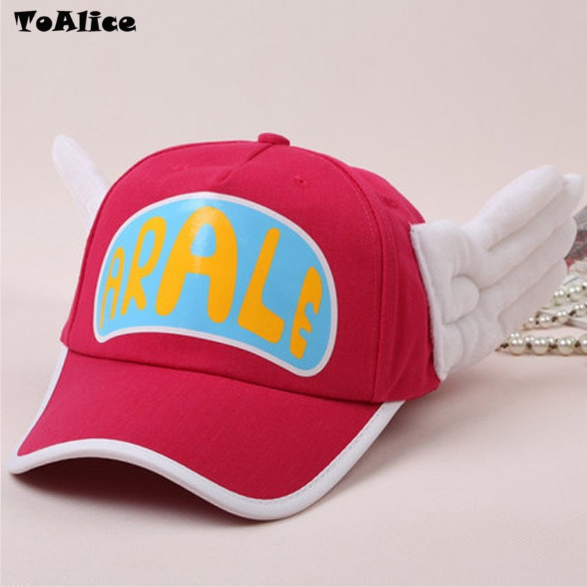 Japanese Anime Cute Dr.Slump Arale Angel Wings Anime Cosplay Hats Summer Cap Baseball Cap for Adult Size 9