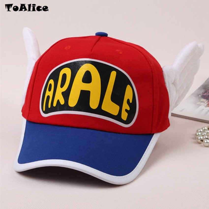 Japanese Anime Cute Dr.Slump Arale Angel Wings Anime Cosplay Hats Summer Cap Baseball Cap for Adult Size 11