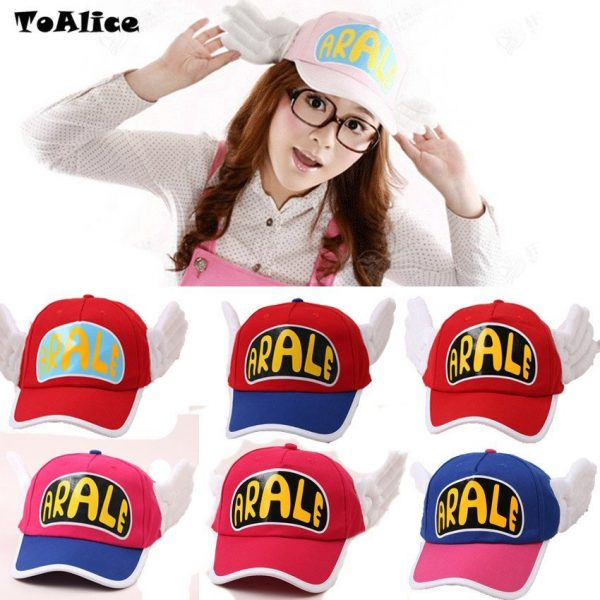 Japanese Anime Cute Dr.Slump Arale Angel Wings Anime Cosplay Hats Summer Cap Baseball Cap for Adult Size 2