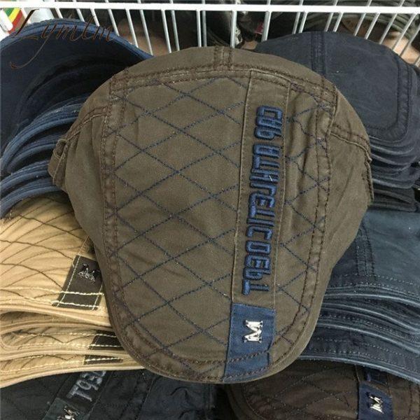 Casual British Style Unisex Solid Cabbie Hats Caps Newsboy Cap Flat Hat Irish Newsboys Caps For Men And Women 46
