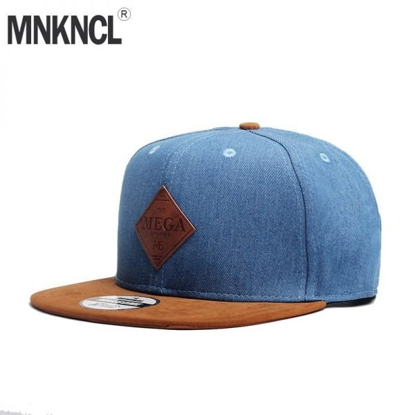 MNKNCL High Quality Snapback Cap MEGA Embroidery Brand Flat Brim Baseball Cap Youth Hip Hop Cap and Hat For Men and Woman 2