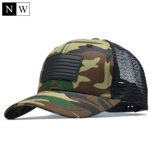 [NORTHWOOD] Camo Mesh Baseball Cap Men Camouflage Bone Masculino Summer Hat Men Army Cap Trucker Snapback Hip Hop Dad Hat 2