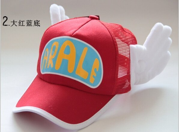 New Coming Anime Cosplay Breathable Net Cap Hats Dr.Slump Arale Angel Wings Summer Colorful Mesh Cap for Adult Size Adjustable 3