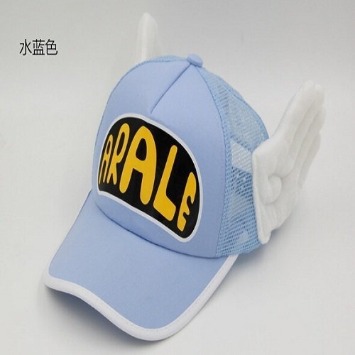 New Coming Anime Cosplay Breathable Net Cap Hats Dr.Slump Arale Angel Wings Summer Colorful Mesh Cap for Adult Size Adjustable 33