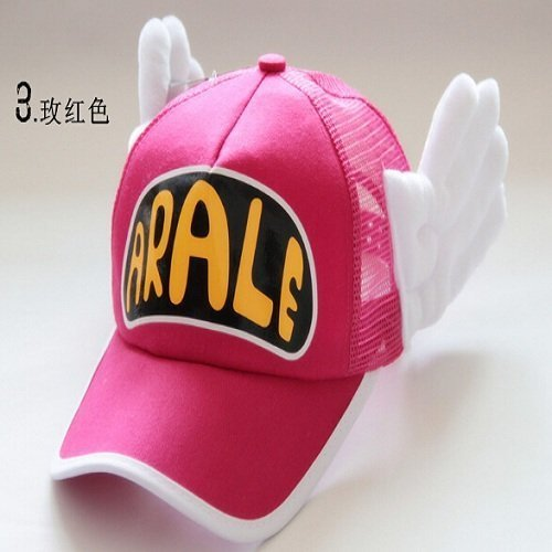 New Coming Anime Cosplay Breathable Net Cap Hats Dr.Slump Arale Angel Wings Summer Colorful Mesh Cap for Adult Size Adjustable 17