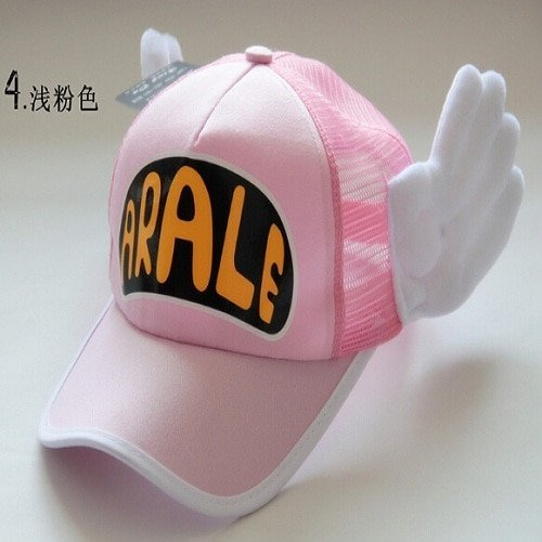 New Coming Anime Cosplay Breathable Net Cap Hats Dr.Slump Arale Angel Wings Summer Colorful Mesh Cap for Adult Size Adjustable 7