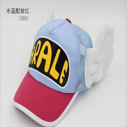 New Coming Anime Cosplay Breathable Net Cap Hats Dr.Slump Arale Angel Wings Summer Colorful Mesh Cap for Adult Size Adjustable 9