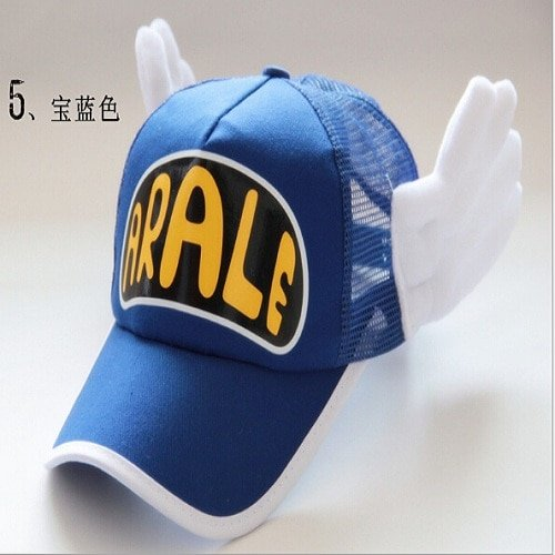 New Coming Anime Cosplay Breathable Net Cap Hats Dr.Slump Arale Angel Wings Summer Colorful Mesh Cap for Adult Size Adjustable 21