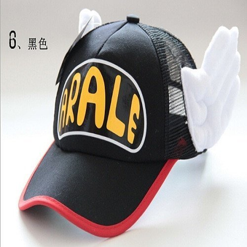 New Coming Anime Cosplay Breathable Net Cap Hats Dr.Slump Arale Angel Wings Summer Colorful Mesh Cap for Adult Size Adjustable 23