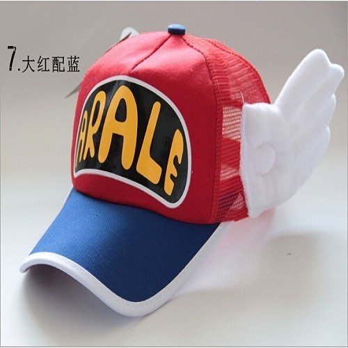New Coming Anime Cosplay Breathable Net Cap Hats Dr.Slump Arale Angel Wings Summer Colorful Mesh Cap for Adult Size Adjustable 25