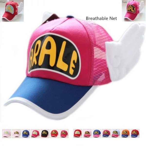 New Coming Anime Cosplay Breathable Net Cap Hats Dr.Slump Arale Angel Wings Summer Colorful Mesh Cap for Adult Size Adjustable 2