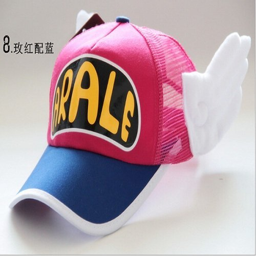 New Coming Anime Cosplay Breathable Net Cap Hats Dr.Slump Arale Angel Wings Summer Colorful Mesh Cap for Adult Size Adjustable 27