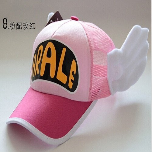 New Coming Anime Cosplay Breathable Net Cap Hats Dr.Slump Arale Angel Wings Summer Colorful Mesh Cap for Adult Size Adjustable 29