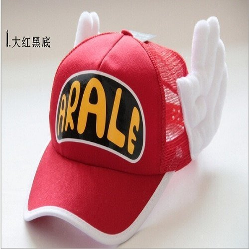 New Coming Anime Cosplay Breathable Net Cap Hats Dr.Slump Arale Angel Wings Summer Colorful Mesh Cap for Adult Size Adjustable 13