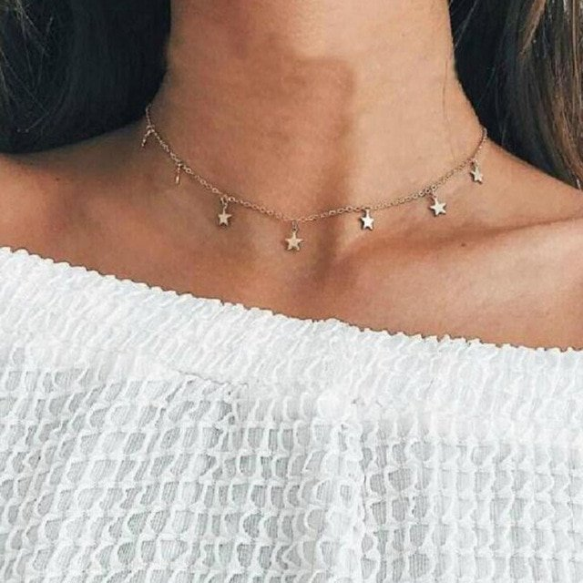 New fashion trendy jewelry copper choker multi layer necklace gift for women Boho Layering Chokers Chockers girl x242 1