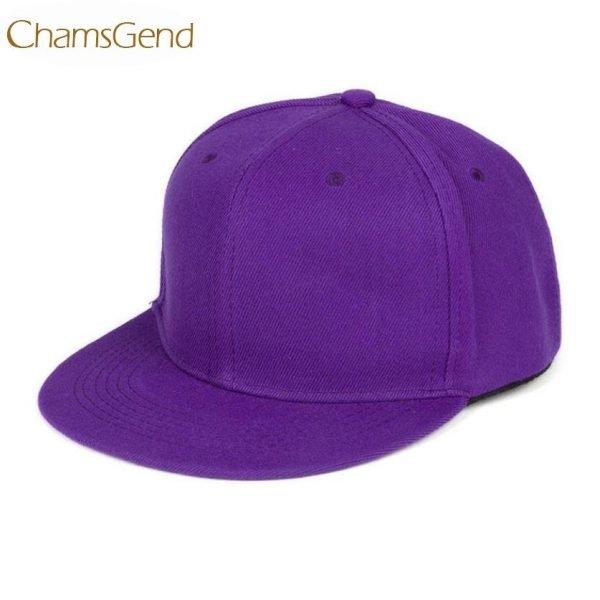 Newly Design Fashion Unisex Plain Snapback Hats Hip-Hop Adjustable Baseball Cap Drop Shipping #0801 10