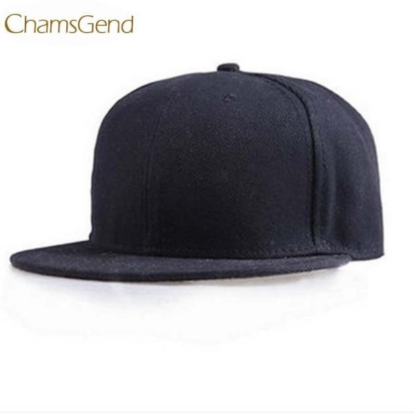 Newly Design Fashion Unisex Plain Snapback Hats Hip-Hop Adjustable Baseball Cap Drop Shipping #0801 2