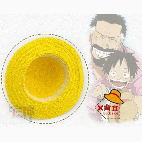 One Piece Luffy Anime Cosplay Straw Boater Beach Hat Cap Halloween straw hat 6