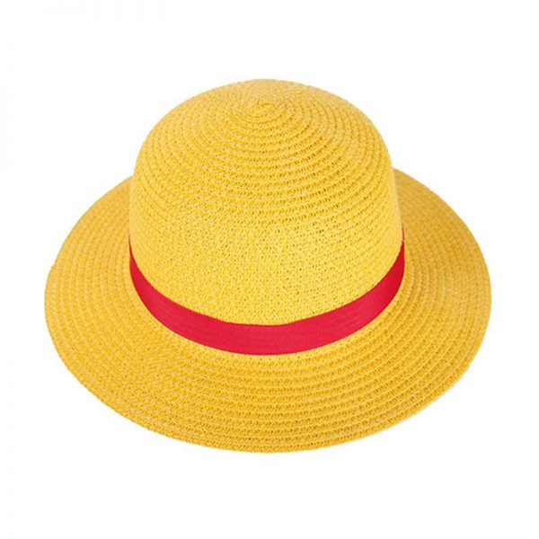 One Piece Luffy Anime Cosplay Straw Boater Beach Hat Cap Halloween straw hat 8