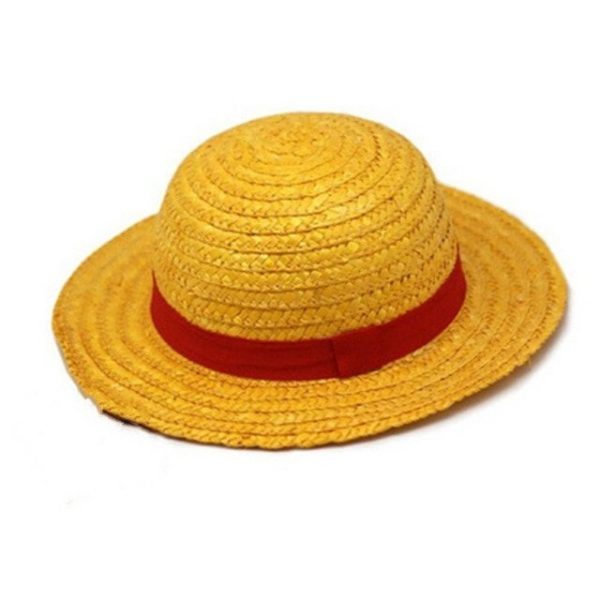 One Piece Luffy Anime Cosplay Straw Boater Beach Hat Cap Halloween straw hat 12