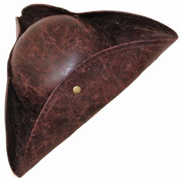 Pirate Hat Pirates of The Caribbean Pirate Captain Hat Cosplay Party Jack Triangle Hat Faux Leather Unisex Pirate Halloween Cap 6