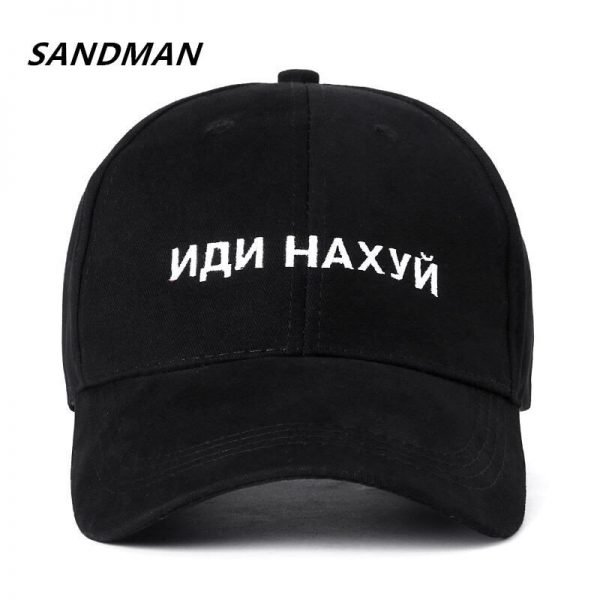 SANDMAN High Quality Brand Russian Letter Snapback Cap 100% Cotton Baseball Cap For Adult Men Women Hip Hop Dad Hat Bone Garros 2