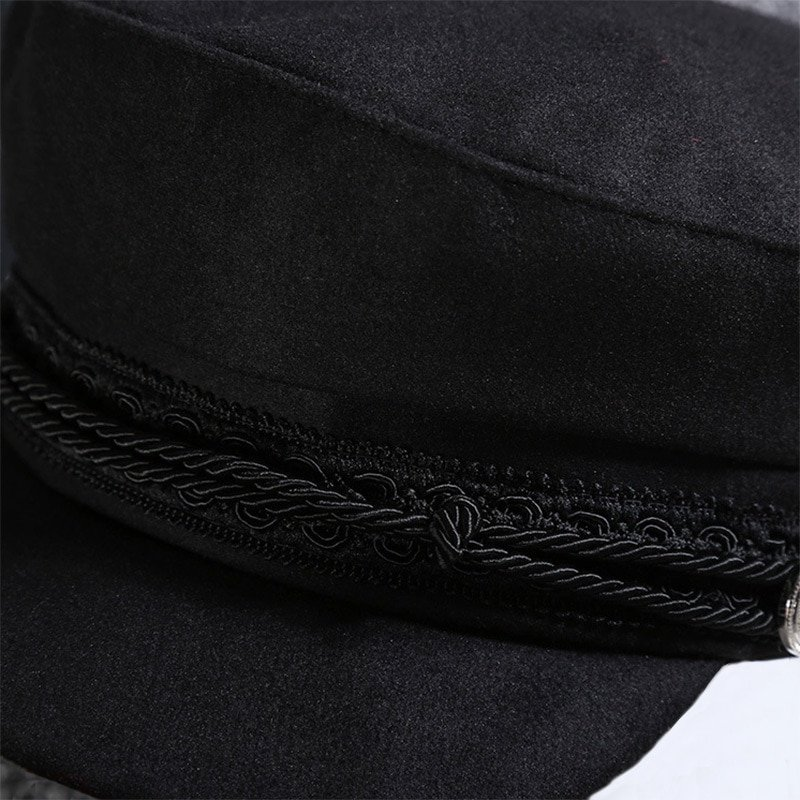 Vintage Hats For Women New Fashion Military Hat Gorras Planas Snapback Caps Female Casquette Sun Hat Octagonal Cap 11
