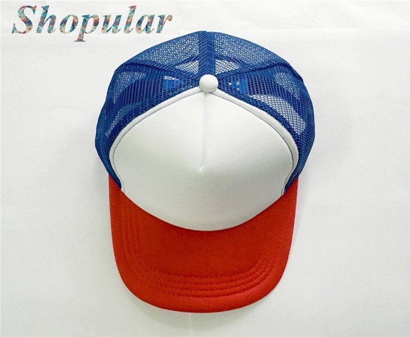 Stranger Things Dustin HAT RED WHITE BLUE Trucker Baseball Mesh Cap Adjustable Hat Costumes Cosplay 5