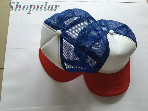 Stranger Things Dustin HAT RED WHITE BLUE Trucker Baseball Mesh Cap Adjustable Hat Costumes Cosplay 12