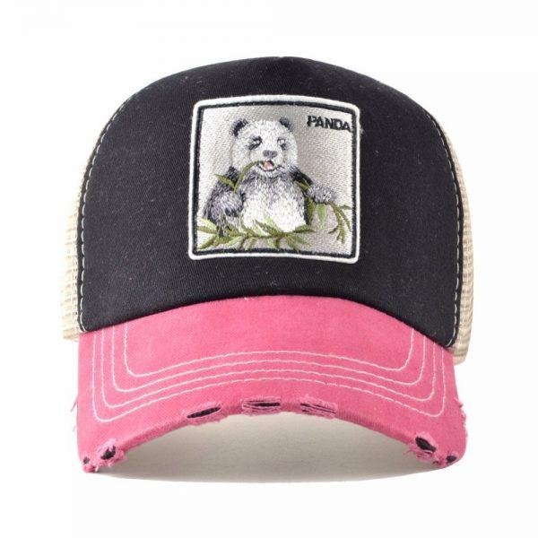 TQMSMY Unisex sun hats for men Hip Hop Hat Breathable Mesh Baseball Caps Women Embroidery panda Snapback caps Summer Gorras 4