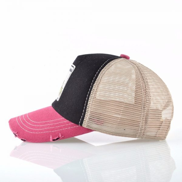 TQMSMY Unisex sun hats for men Hip Hop Hat Breathable Mesh Baseball Caps Women Embroidery panda Snapback caps Summer Gorras 6