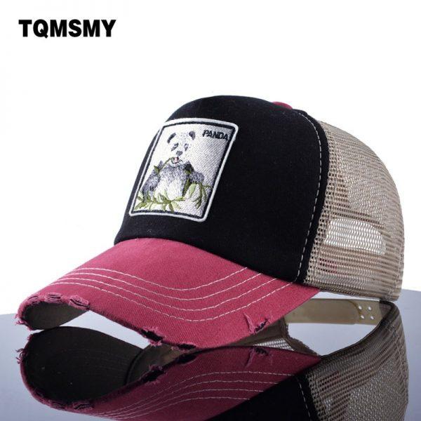 TQMSMY Unisex sun hats for men Hip Hop Hat Breathable Mesh Baseball Caps Women Embroidery panda Snapback caps Summer Gorras 2