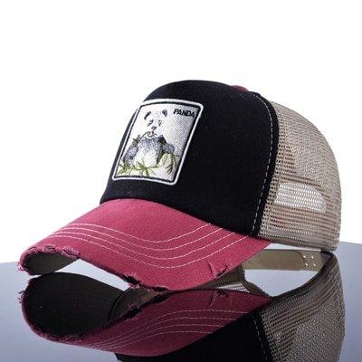 TQMSMY Unisex sun hats for men Hip Hop Hat Breathable Mesh Baseball Caps Women Embroidery panda Snapback caps Summer Gorras 14