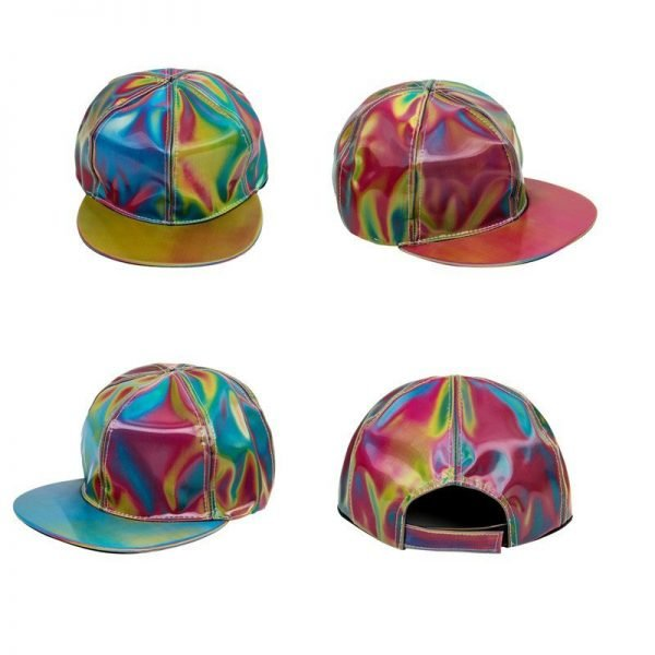 Takerlama Fashion Marty McFly Licensed for Rainbow Color Changing Hat Cap Back to the Future Prop Bigbang G-Dragon Baseball Cap 12