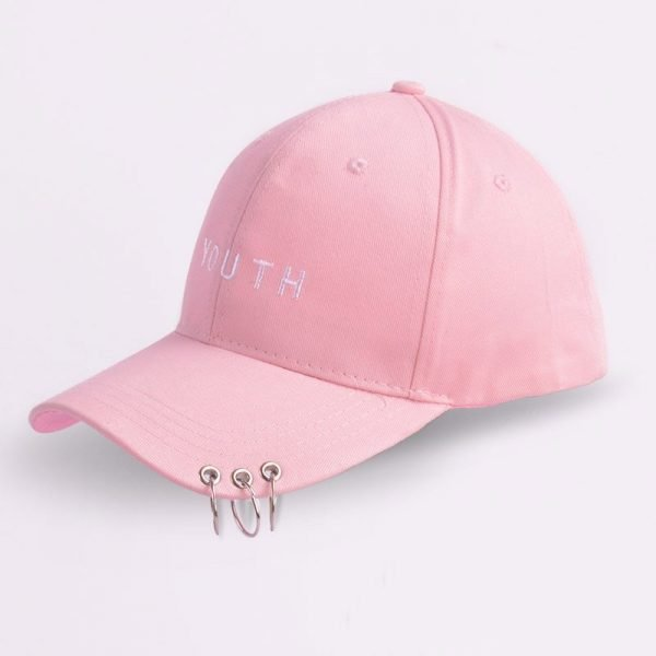 Unisex Letter Printed Solid Caps Men Women Ring Hip Hop Baseball Cap Cotton Snapback Caps Hat Summer Autumn 8