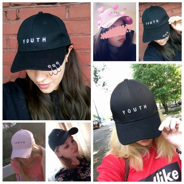 Unisex Letter Printed Solid Caps Men Women Ring Hip Hop Baseball Cap Cotton Snapback Caps Hat Summer Autumn 12
