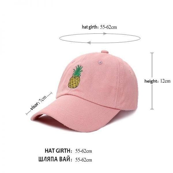 VORON men women Pineapple Dad Hat Baseball Cap Polo Style Unconstructed Fashion Unisex Dad cap hats 12