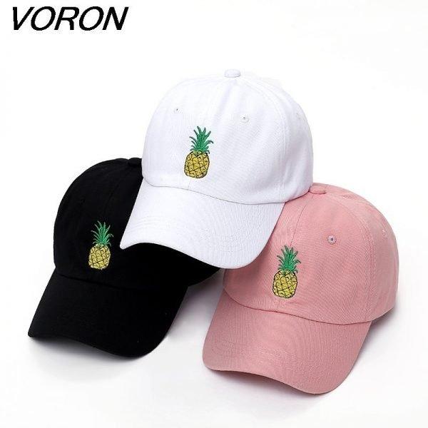 VORON men women Pineapple Dad Hat Baseball Cap Polo Style Unconstructed Fashion Unisex Dad cap hats 2