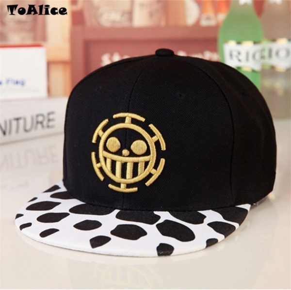 Wholesale Lots Anime One Piece Hat Baseball Cap Trafalgar Law Hats Cosplay Caps For Women Men Hip Hop Snapback Caps Flat Hat 4