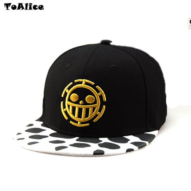 Wholesale Lots Anime One Piece Hat Baseball Cap Trafalgar Law Hats Cosplay Caps For Women Men Hip Hop Snapback Caps Flat Hat 11