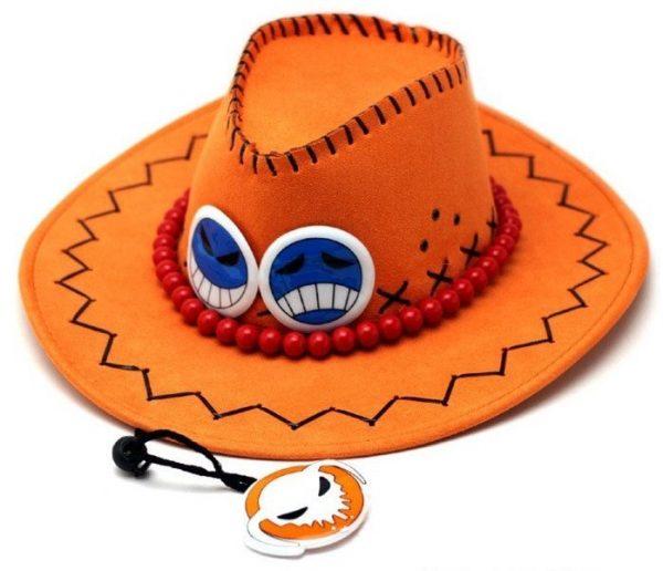 Wholesale Price One Piece Portgas D Ace Cosplay Hat Cowboy Hat Souvenirs Pirates Caps With Bones Skull Toys 6