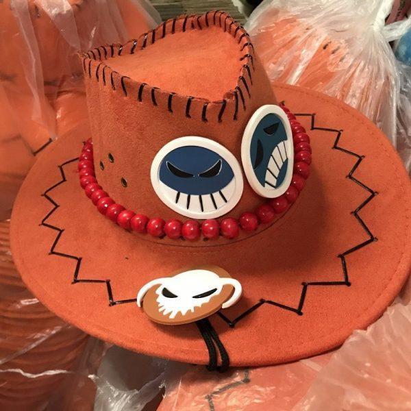 Wholesale Price One Piece Portgas D Ace Cosplay Hat Cowboy Hat Souvenirs Pirates Caps With Bones Skull Toys 8