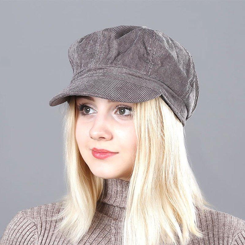 Women's Beret Hat New Arrivals Octagonal Hats For Women Fashion Corduroy Vintage Boina Autumn Winter  Newsboy Caps 7