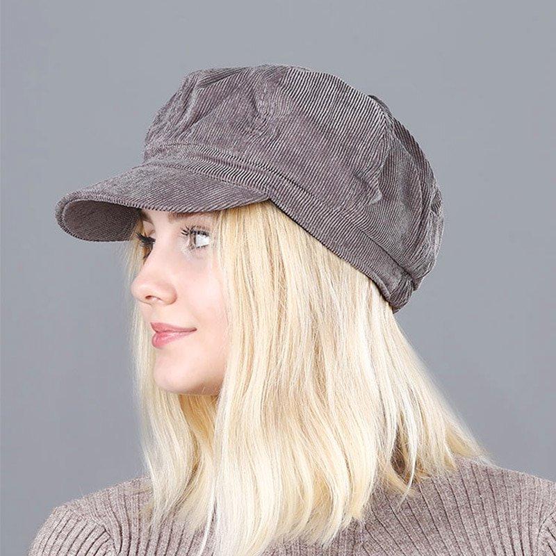 Women's Beret Hat New Arrivals Octagonal Hats For Women Fashion Corduroy Vintage Boina Autumn Winter  Newsboy Caps 9