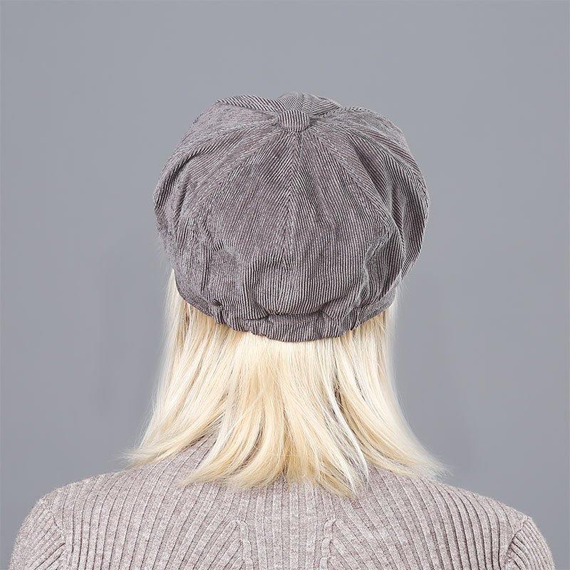 Women's Beret Hat New Arrivals Octagonal Hats For Women Fashion Corduroy Vintage Boina Autumn Winter  Newsboy Caps 11