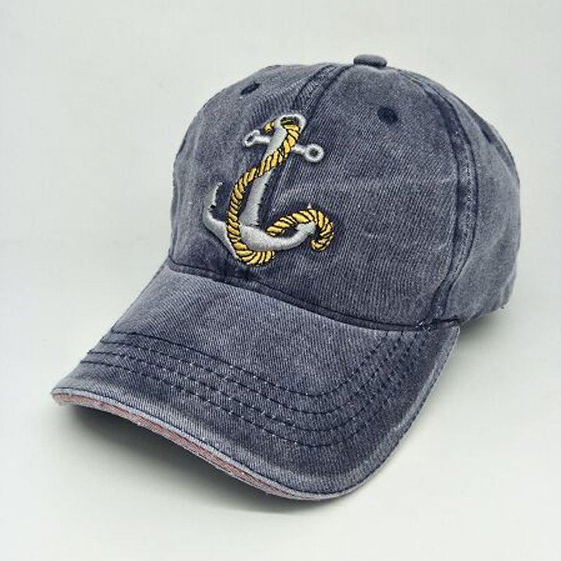 Cotton Anchor Baseball Cap Vintage Casual Hat Adjustable Baseball Caps New for Adult